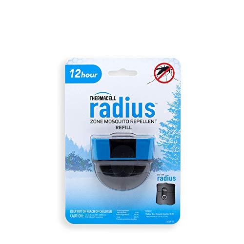 Radius Zone Mosquito Repellent Refills by Thermacell, 12-Hours; Use with Radius Zone Mosquito Repellent; Fully Sealed Liquid Refill Keeps Insects at Bay; DEET-Free, Scent-Free, No Spray, No Mess