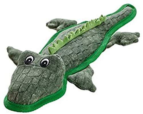 TOUGH BRISBANE Hundespielzeug, Kuscheln, Spielen, 38 cm, Alligator