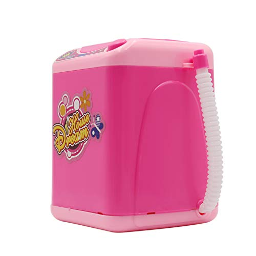 Staright Maquillage brosse Machine à laver Mini Simulation enfants jouer semblant électrique mignon cosmétique poudre bouffée éponge nettoyant rondelle outil