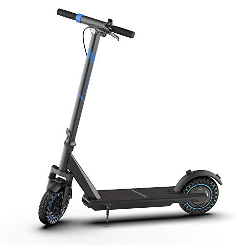 Brookstone BluGlide Elite 10 Folding Electric Scooter for Adults, Powerful 500W Motor, Up to 16 MPH, Up to 18 Miles Long Range, 10' Honeycomb Tires, Large LED Display for Commuting, Black