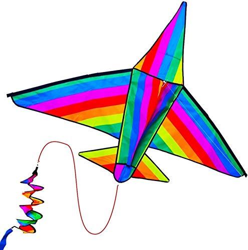 Decor Aeroplano 3D Cometas para niños, línea única Fácil de Volar de Playa para niños y niñas, Juguetes Divertidos al Aire Libre para niños y Juegos Familiares