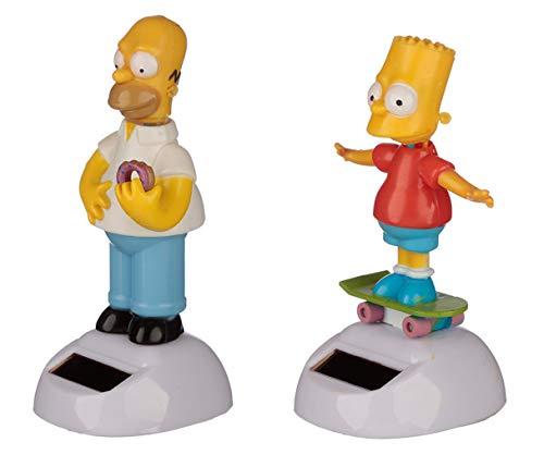 Puckator Set von 2 Neuheit Solar Pals Tanzen Bobble Head Figur - Homer Simpson & Bart Simpson