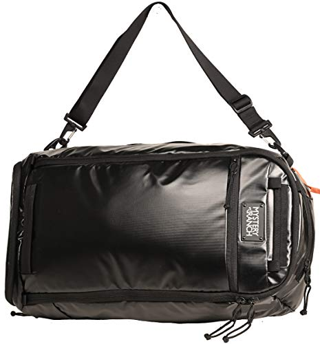 MYSTERY RANCH Mission Duffle Bag - Waterproof Luggage for Travel Bag, TPU Black, 55L