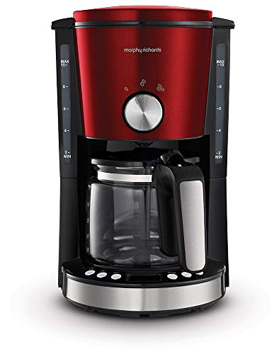 Morphy richards - m162522ee - Cafetière programmable 10 tasses 1000w rouge/noir evoke
