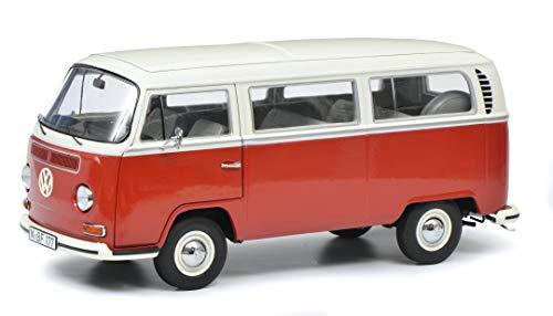 Schuco 450043600 VW T2a Bus L, Modellauto, 1:18, Limitierte Auflage, rot/weiß