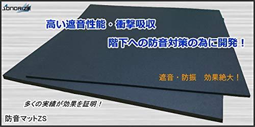 防音マットZS【厚さ10mmタイプ】2枚セット畳約1帖分(910mm×910mmサイズ1枚当り8㎏)