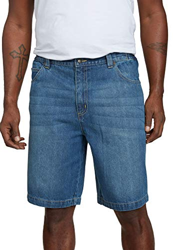 Liberty Blues Men's Big & Tall 5 Pocket Denim Shorts - Big - 56, Blue Wash