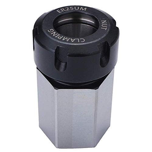 Read About GUONING-L Tool Hard Steel Hex ER-25 Collet Chuck Block CNC Lathe Tool Holder Metal Lathes...