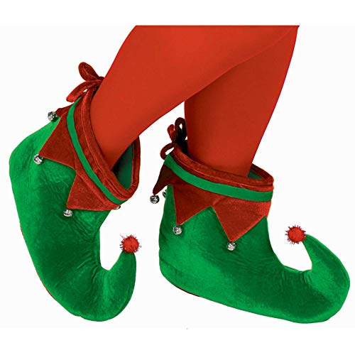 Amscan 393235 Adult Elf Fabric Party Costume Shoes