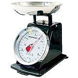 Báscula de cocina manual vintage de 3 kg tradicional Prima retro analógica para el hogar, ingredientes mecánicos, medición de pesaje para hornear, canal de Youtube, cuenco de acero inoxidable