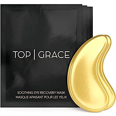 Under Eye Masks For Puffy Eyes - Collagen Eye Mask With Hyaluronic Acid Gel - Dark Circles, Under Eye Bags Remover, Treatment Eye Patch - Anti Ageing Gold Under Eye Pads For Reducing Wrinkles