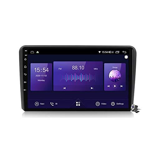 Buladala Android 10 MP5 Player GPS Navegación para Audi A3 2 8P 2003-2013, Soporte WiFi 5G DSP/FM RDS Radio de Coche Estéreo/BT Hands-Free Calls/Control del Volante/Carplay Android Auto,7862: 6+128gb