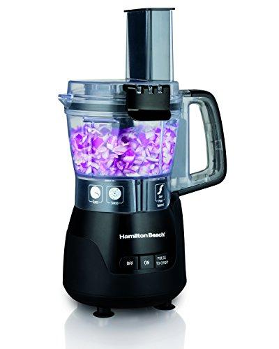 Hamilton Beach 4カップ ミニフードプロセッサー&野菜チョッパー 250ワット スライス シュレッディング ピュア ブラック (70510)