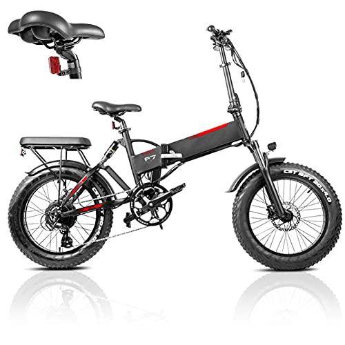 20 Zoll Elektrofahrrad Bike, Falt Elektro Fahrrad 750W E-Bike fr Erwachsene Mit 48V 13.6AH Abnehmbarer Lithium-Batterie 45km/h Reichweite 90km,Professionelle 7-Gang Kinder Schule bringen