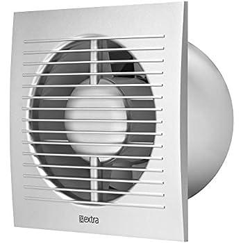 O 125mm Ventilator Mit Timer Silber Badlufter Lufter Wandlufter Wc Bad Kuche Leise Kleinraumventilator Amazon De Baumarkt