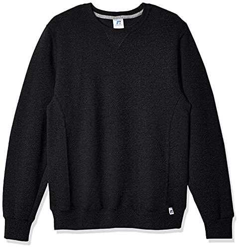 Russell Athletic Men's Dri-Power Fleece Sweatshirt, Black Heather, XX-Large