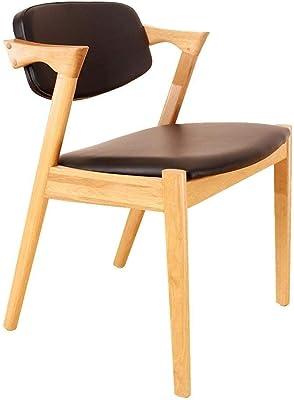 Kitchen Home Decor Dining Chairs ZHANGZZ Housewares Lounge Chair Solid Wood Modern Minimalist Chair White Oak Z Creative Casual Restaurant Chair