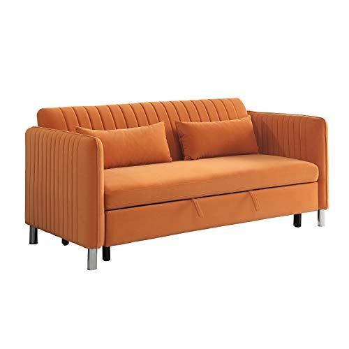 Lexicon Ferrara Convertible Sofa Bed, Orange