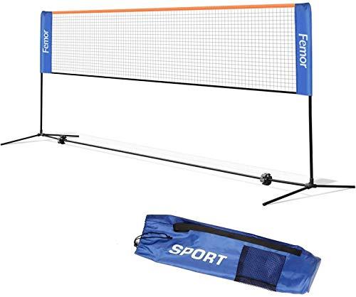 femor Badminton Netz Tennisnetz 0.8M Tragbares Volleyball mit 3-Fach Verstellbaren Höhen faltbares Federballnetz Outdoor Trainingsnetz,3 Höhe: 85 oder 107/120/155cm