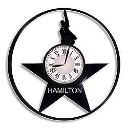 Hamilton Vinyl Record Wall Clock, Hamilton Movie, Hamilton Artwork, Movie Art, Hamilton Wall Decor, Hamilton Musical, Hamilton Gift