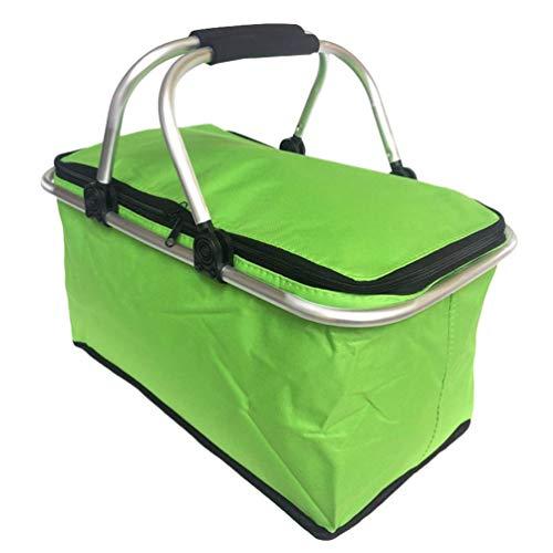 Mengyu Faltbarer Einkauskorb mit Kühlfunktion, Isolierkorb Kühlkorb Groß Dicke Picknicktasche im Freien für den täglichen Einkauf (Stil#16, 46 * 28 * 24cm)