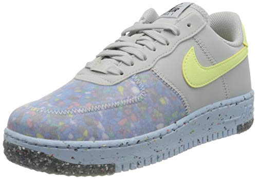Nike Air Force 1 Crater, Zapatillas de bsquetbol Mujer, Pure Platinum Barely Volt Summit White, 36.5 EU