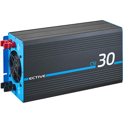ECTIVE 3000W 24V zu 230V Reiner Sinus-Wechselrichter CSI 30 mit Batterie-Ladegerät, NVS- und USV-Funktion