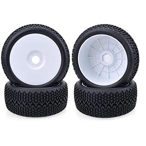 J-Clock Neumático para Scooter, 4 Llantas y Llantas para Rueda Cubo 17 mm para 1/8 Todoterreno RC Car Buggy Redcat Team Losi VRX HPI Kyosho HSP Carson Hobao, A