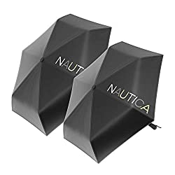 commercial 2 Pack Nautica Umbrella for Travel – Automatic Opening and Closing, Compact, Lightweight, Foldable – Best… umbrella in wind