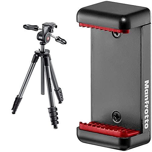attacco smartphone Manfrotto MKCOMPACTADV-BK Treppiede Serie Compact con Testa Tre Vie