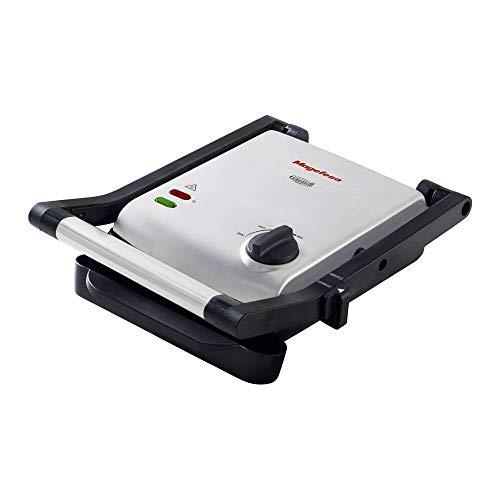 MAGEFESA Easy GRILL 2 placas de cocinado, antiadherente multicapa, selector de temperatura, indicador de encendido, 1400 W, todo tipo de cocinas sandwichs, paninis, parrilla electrica