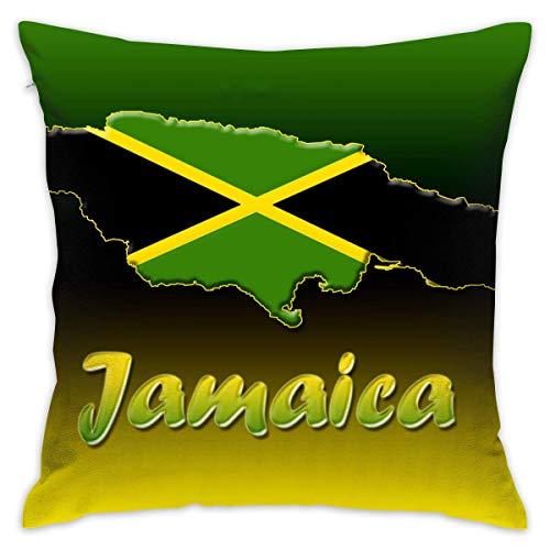 EU Jamaica Funda de Almohada Decorativa para el sofá del hogar Ropa de Cama Sofá 18 X 18 Pulgadas 45 X 45 cm