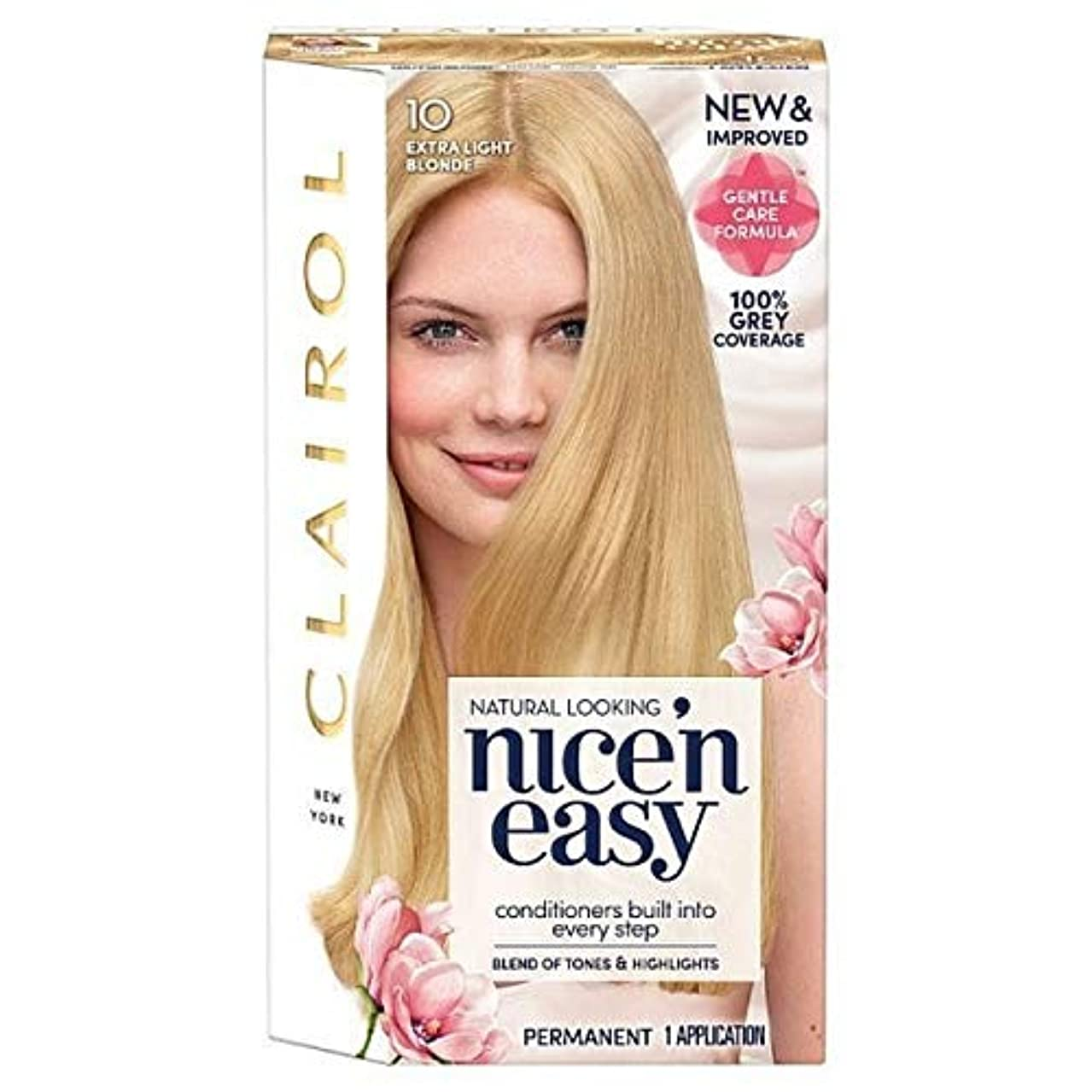 酸化する下向きタイヤ[Nice'n Easy] Nice'N簡単に10人の余分な光のブロンド - Nice'n Easy 10 Extra Light Blonde [並行輸入品]