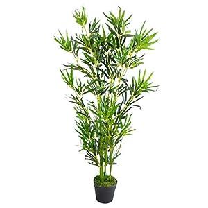 Leaf LEAF-7096 Design UK Artificial Bamboo Plants Trees-XL Realistic, 120cm (4ft), Natural Green
