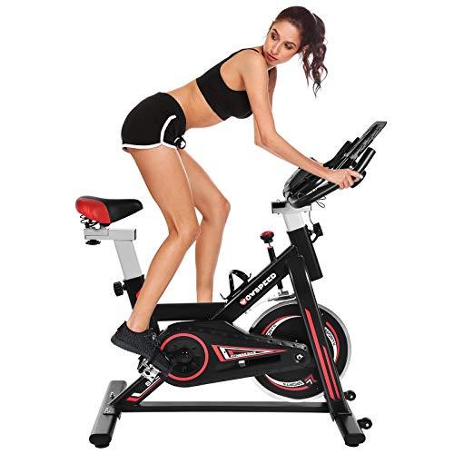 Bellanny Ergometer Cycle - Ergómetro (incluye bicicleta de fitness silenciosa con acceso profundo y sillín cómodo, 6 kg, volante de inercia de pulso (02) (01)