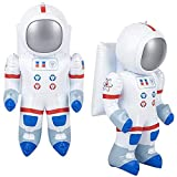 ArtCreativity Astronaut Inflates, Set of 2, Inflatable Astronaut Toys with Hanging Tag, Decorations for Outer Space Themed Parties, 21.5 Inch Long Party Inflates, Fun Pretend Play Accessories