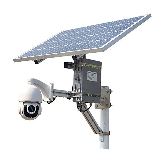 Solar Power WiFi Wireless 3G 4G SIM Slot Security Ptz IP Camera 18X Zoom Ottico Sony Super Star Light 1080P Outdoor CCTV con 64G scheda di registrazione