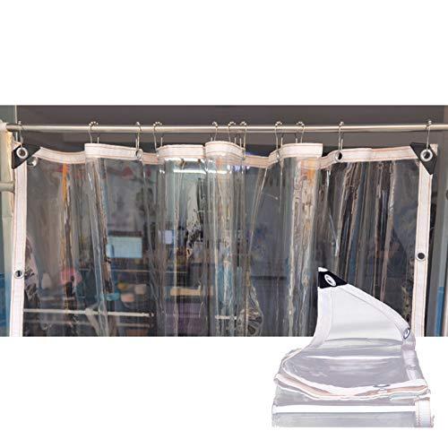 LJIANW-lonas impermeables exterior, Transparente Impermeable Lonas Transparentes con Ojales por Invernadero De Plantas, Techo para Mascotas Pabellón Cubrir, Espesar PVC 0,3 MM
