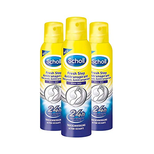 Scholl Fresh Step Antitranspirant Fußspray, 3er Pack