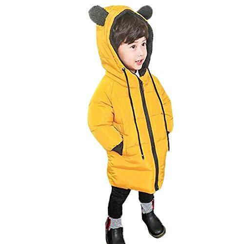 Kinder langärmelige Bären Ohren Tunnelzug Kapuzenjacke Baumwollkleidung YunYoud steppjacke daunenjacke winterparka bomberjacke schneejacke kindermode steppmantel jeansjacke
