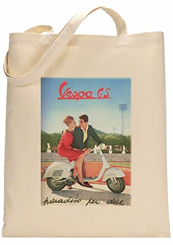 FunnyWear Vintage Scooter Poster Fan Custom Made Tote Bag
