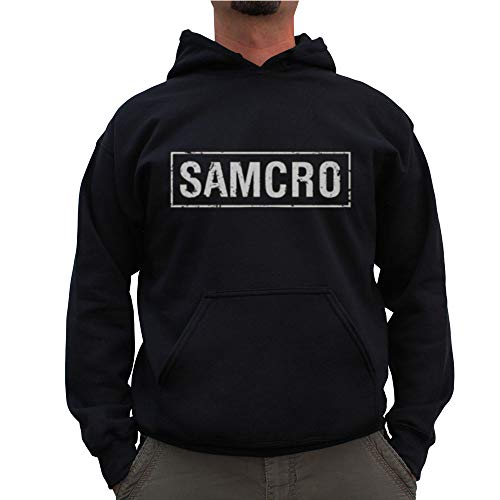 Sons of Anarchy Officially Licensed Samcro Distressed Big & Tall Hoodie (Black) 4X-Large