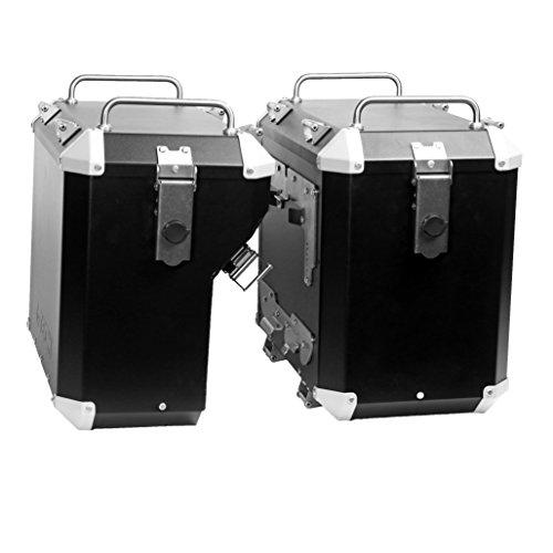 Mytech- 47 Kit de maleta color negro de 41 litros montado directamente en los marcos estándar originales para - R 1200 GS Adventure LC - R 1250 GS Adventure - F 850 GS Adventure