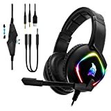 EMPIRE GAMING – Dark Rainbow G-HD10 Casque Gamer RGB -Compatible PS4/PS5/Xbox Series/Smartphones/Tablettes/PC/Mac -Multiplateforme -Son Stéréo Haute Définition -Micro Flexible, Omnidirectionnel