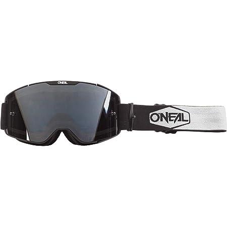 O Neal Fahrrad Motocross Brille Mx Mtb Dh Fr Downhill Freeride Verstellbares Band Optimaler Komfort Perfekte Belüftung B 20 Goggle Unisex Schwarz Weiß Grau Verspiegelt One Size Bekleidung