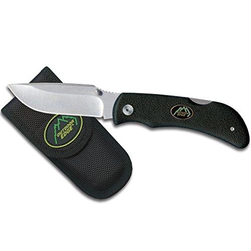 OUTDOOR EDGE Grip Lite Couteau Pliant Mixte Adulte, Noir/Gris, 81 mm