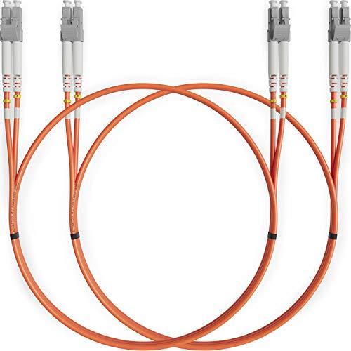 Cable de Fibra Óptica LC a LC 1M Multimodo Duplex (2 Pack)...