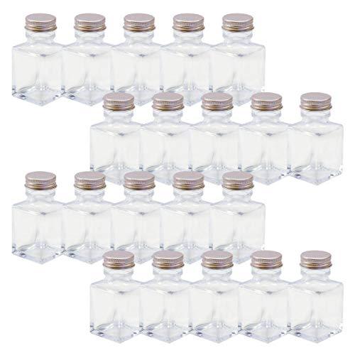 ハーバリウム 四角柱ガラス瓶 50cc 20本セット
