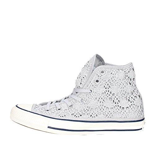 Converse - Cuck Taylor all Star Hi Crochet - Scarpe Alte - Argento/Bianco/Navy