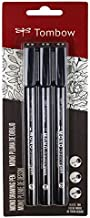 Tombow 66403 MONO Drawing Pen, 3-Pack. Create Precise,